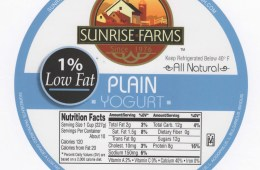 1% Low Fat Plain Yogurt