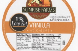 1% Low Fat Vanilla Yogurt